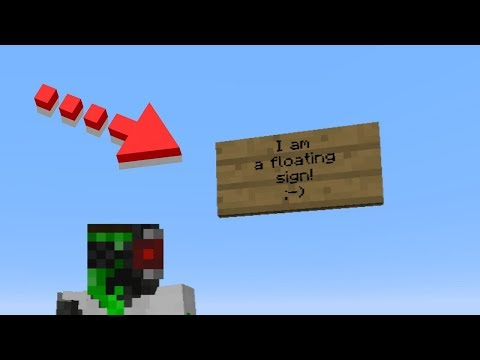 How to make a floating sign in Minecraft 1.13 - Survival Minecraft Trick
