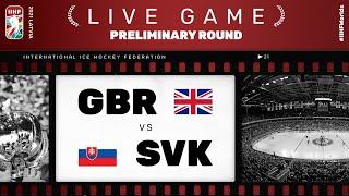 Great Britain – Slovakia | Live | Group A | 2021 IIHF Ice Hockey World Championship