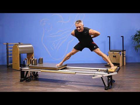 squat to side split on pilates reformer  youtube