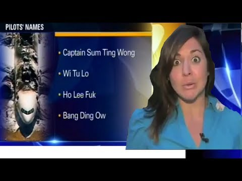 MAJOR NEWS BLOOPER NAMING PILOTS OF DOWNED ASIANA FLIGHT