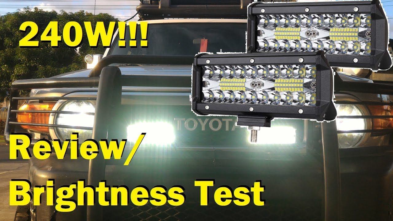 Nao 7 Inch Led Light Bar Review And Install
