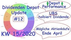 UBS halbiert die Dividende - Dividenden Depot update #12 vom AktienOnkel