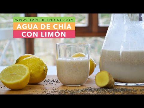 Cómo hacer agua de chía   Bebida adelgazante   Agua con chía y limón