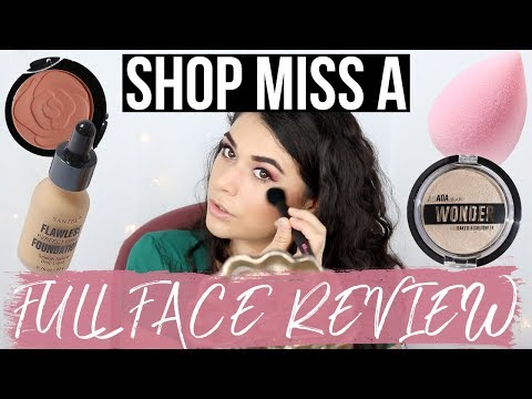FULL FACE OF MAKEUP FROM SHOP MISS A 😳 TRY-ON HAUL & REVIEW