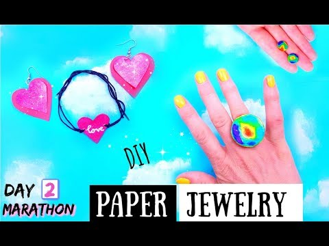DIY JEWELRY OUT OF PAPER - How to Make DIY Crafts With Paper Easy