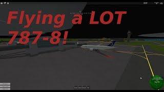 Voando muito 787-8! | Roblox Pilot simulador de vôo de treinamento