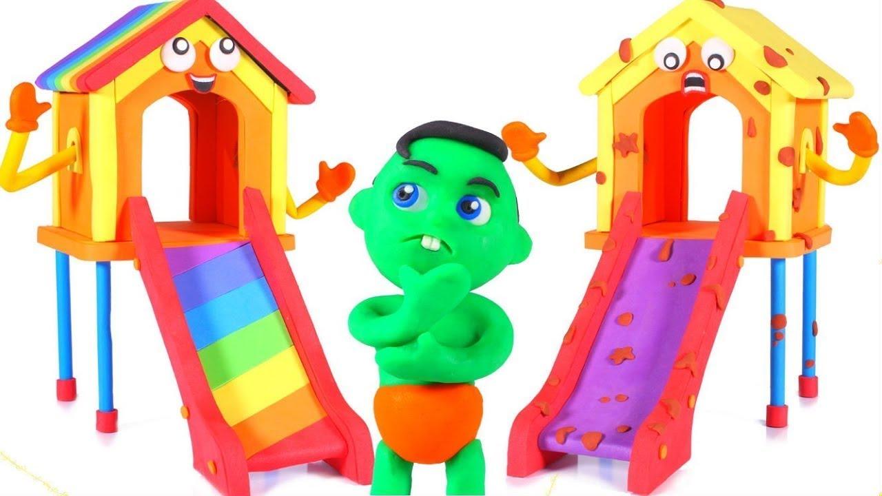 Muddy Slide VS Rainbow Slide 😱😱😱😱