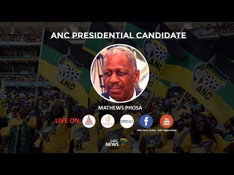 LISTEN LIVE: ANC Presidential candidate, Mathews Phosa