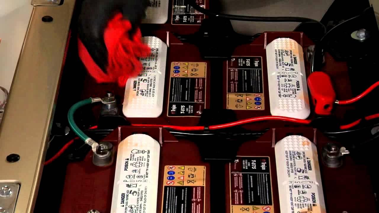 Golf Cart Battery Maintenance  YouTube