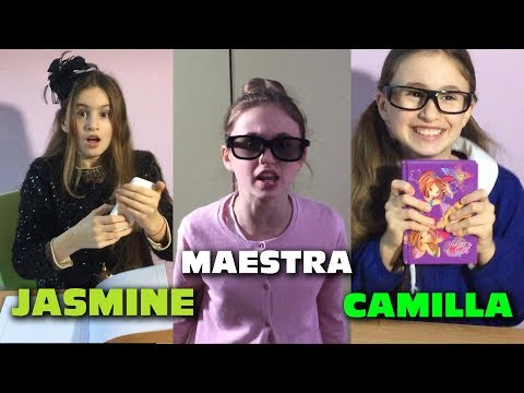 CHARLOTTE,  JASMINE e CAMILLA a SCUOLA - by Charlotte M.