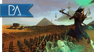 Battle of the Black Pyramid: Tomb Kings at War - Total War: WARHAMMER Mod Gameplay