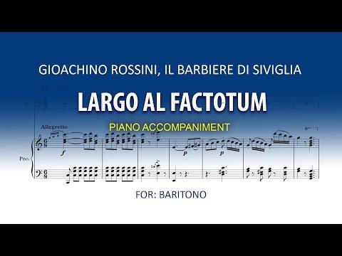 Largo al factotum Karaoke piano / Figaro / Il Barbiere di Siviglia / Rossini