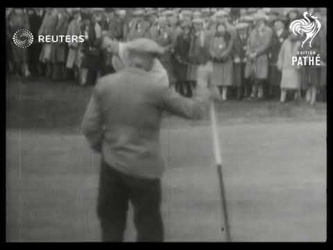 GOLF: Ryder Cup Golf Contest at Moortown (1929)