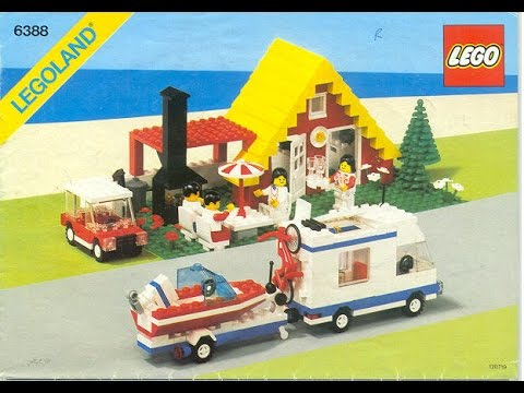 Lego holiday home instructions set 6388 1 1987 youtube for Modele maison lego classic