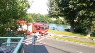 Accident de voiture avec un camion des sapeurs pompiers à Compiègne