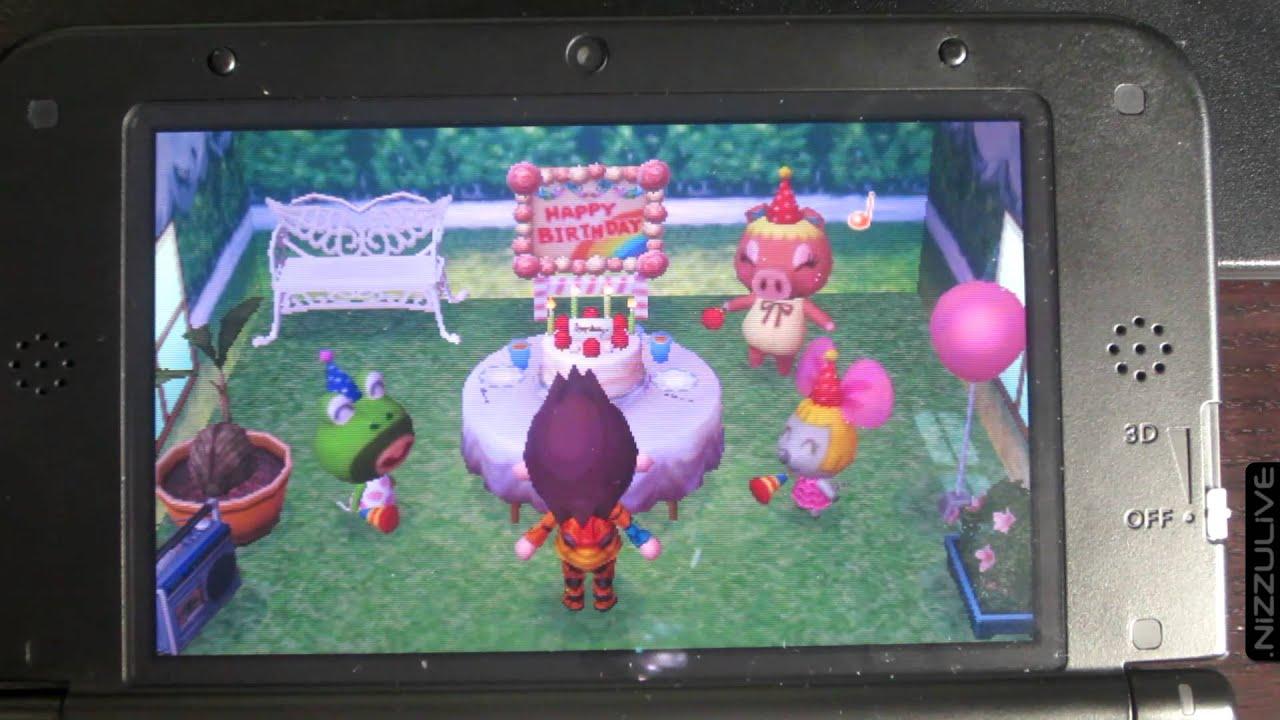 Animal Crossing: New Leaf Happy Birthday NIZZU! Party Secret ...