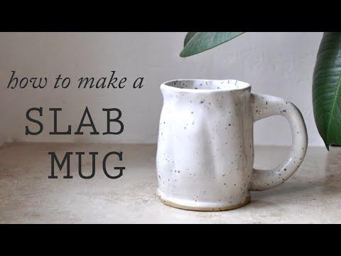 how to handbuild a slab mug // pottery diy