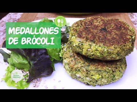 MEDALLONES DE BRÓCOLI | Comer Vegano
