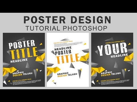 POSTER DESIGN | Photoshop Tutorial l Graphic Design Telugu thumbnail
