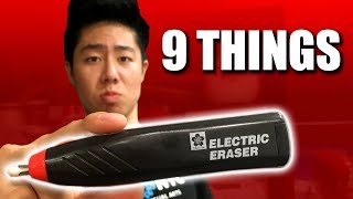 9 Things You Can Draw With an ELECTRIC ERASER (Bring Your Drawings to the Next Level)