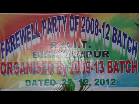 RCIT Bishrampur Farewell Party 2008 to 2012 Batch