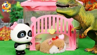 Take Care of Baby Hamster | Hamster House | Pet Care | Play Kitchen | Cooking Toys For Kids | ToyBus