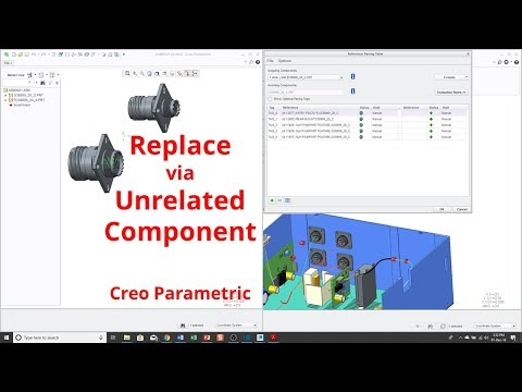 Creo Parametric - Replace by Unrelated Component [Tutorial]