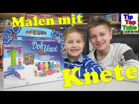 Play doh DohVinci Farbenmischer Hasbro A9212EU4 Unboxing Video Bilder Malen mit Knetgummi Kinderkana