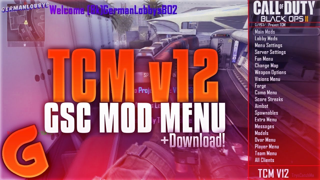 BO2/1 19] TCM v12 Mod Menu (Best Mod Menu?) +Download! [GSC