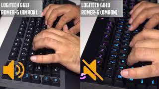 SOUND TEST: Logitech G613 & Logitech G810