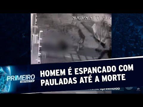 Homem é espancado com pauladas até a morte no Mato Grosso | Primeiro Impacto (30/03/20)