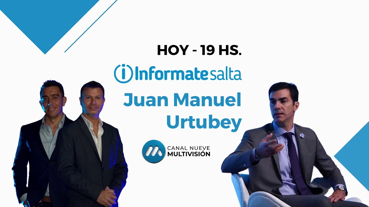 Juan Manuel Urtubey en InformateSalta por Canal 9 Multivisión
