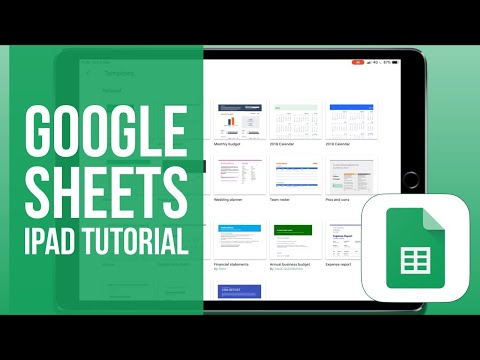 Google Sheets for iPad Tutorial 2019