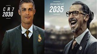 Así se verían Cristiano Ronaldo; Messi; Ibrahimovic; Totti; Sergio Ramos y Henry, ya viejos