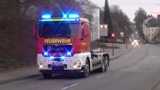 [LKW Mit Gefahrgut Ladung, Explodierten Reifen!] Gefahrguteinsatz der Feuerwehr Wuppertal