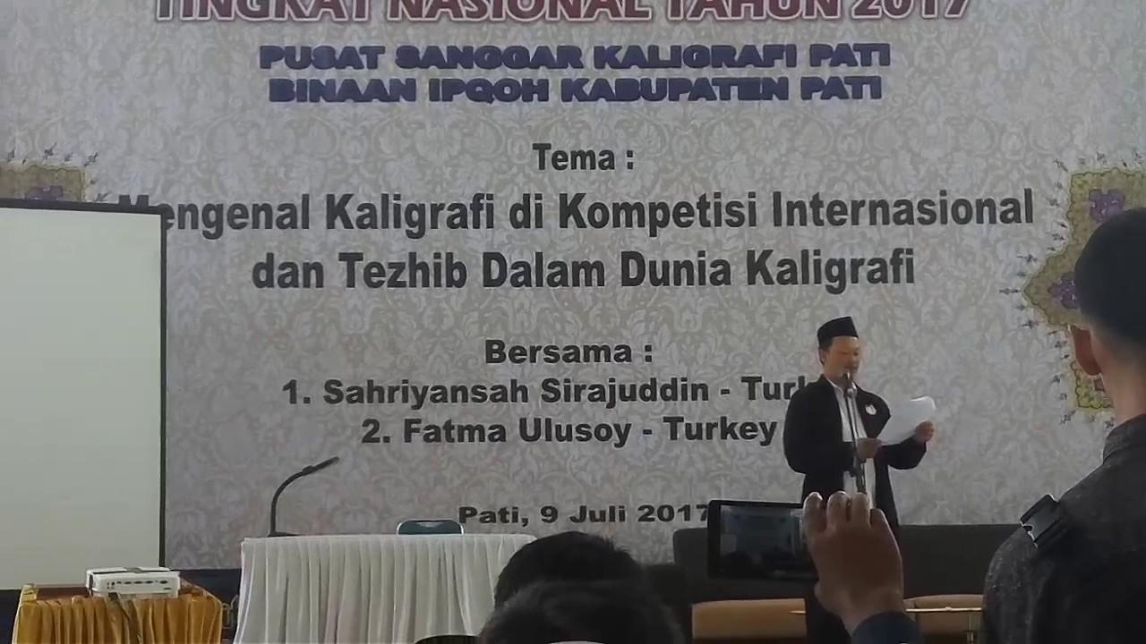 Pengumuman Juara Lomba Kaligrafi Tingkat Nasional 2017
