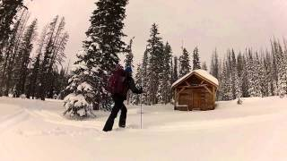 Snowshoeing The Snowies, Wyoming
