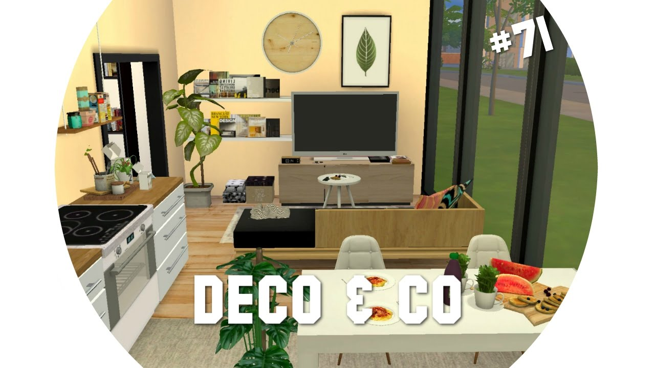Les sims 4 deco co 71 maison scandinave moderne for Decoration maison moderne youtube