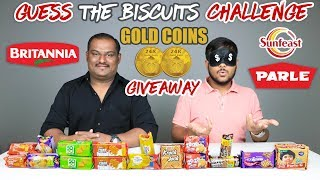 GUESS THE BISCUITS CHALLENGE   Biscuits / Cookies Eating Competition   Food Challenge