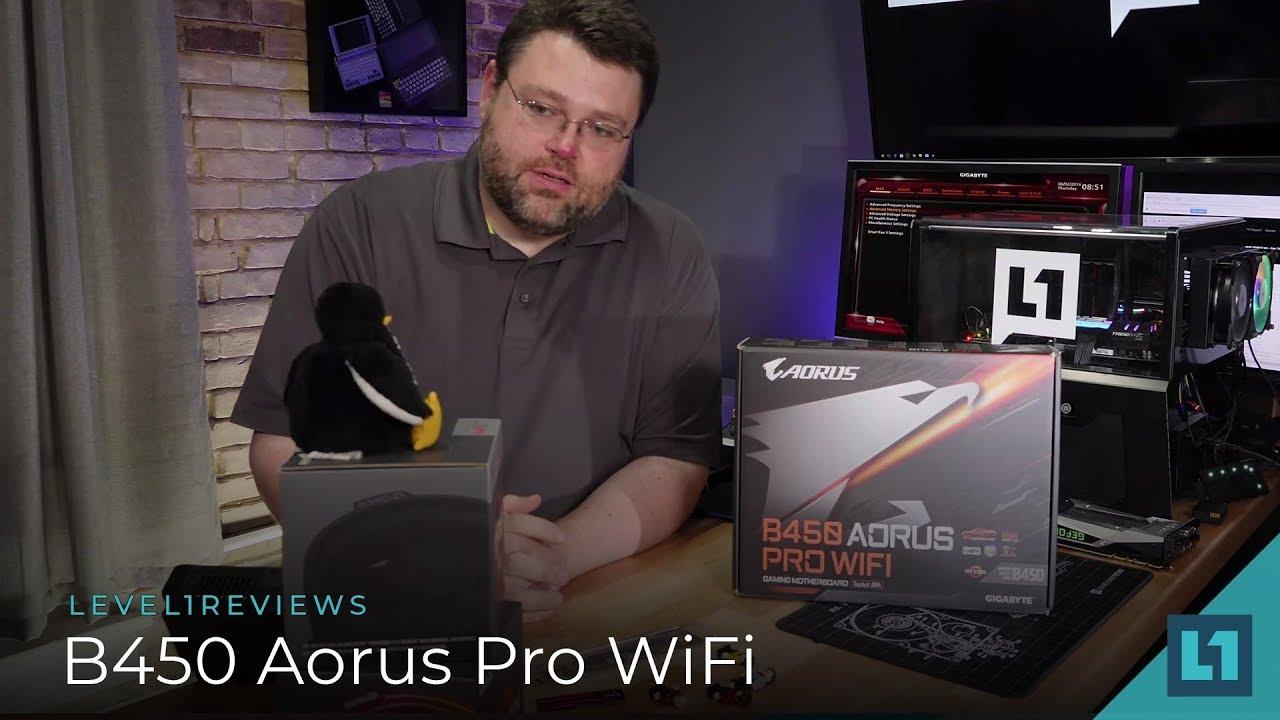Gigabyte B450 Aorus Pro WiFi Review + Linux Test