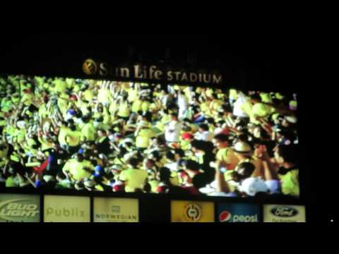 Colombia Brazil Sunlife stadium soccer match 2014