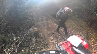 Barretts Rd. West Takone On Quad Bike TRX350 Honda. GoPro Hero2