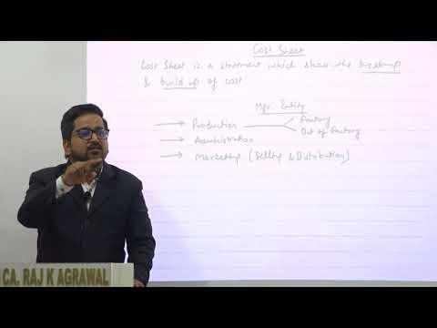 Cost Sheet Amendment | As per New Format by CA Raj K Agrawal