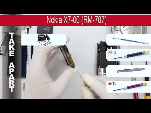 How to disassemble 📱 Nokia X7-00 (RM-707), Take Apart, Tutorial
