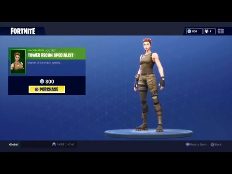Tower Recon Specialist Back! July 12th Item shop (Fortnite BR)