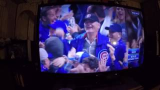 Bill Murray rallies the Chicago Cubs crowd and then THIS happens...