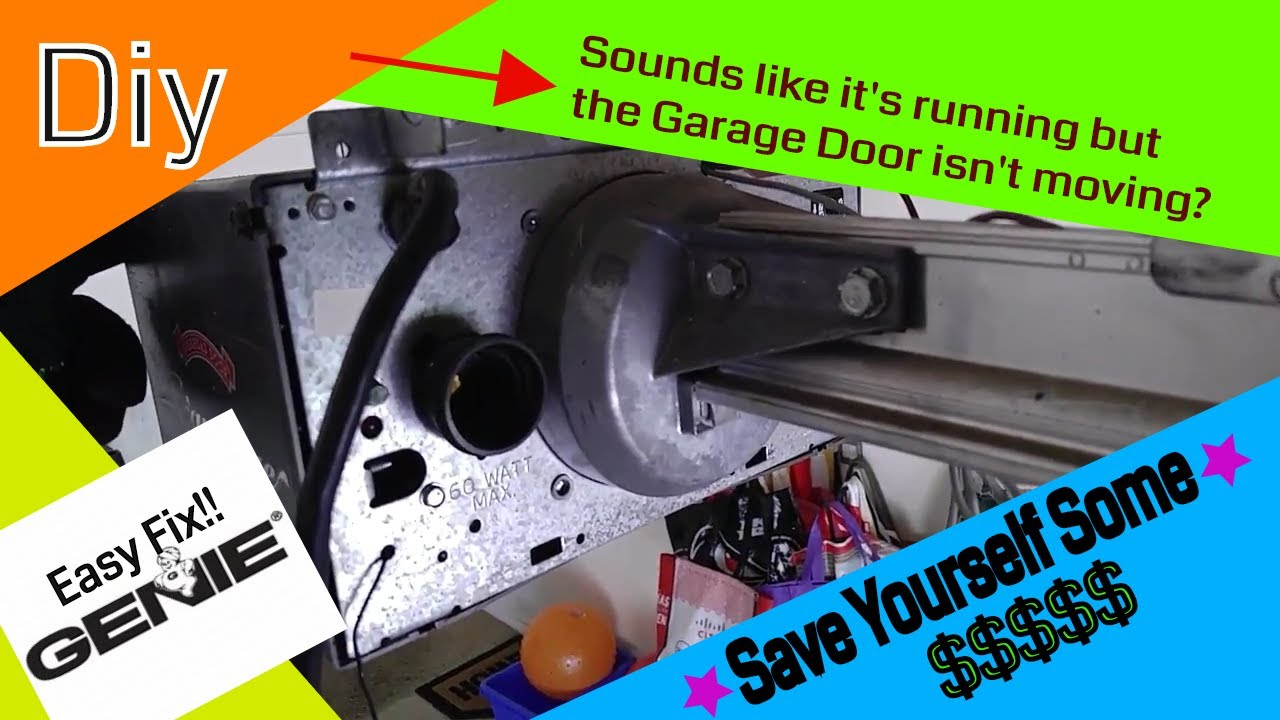 Genie Garage Door Opener Not Moving Grinding Noise Amazon Part In The Video Youtube