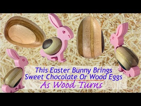 This Easter Bunny Brings Sweet Chocolate or Wood Eggs