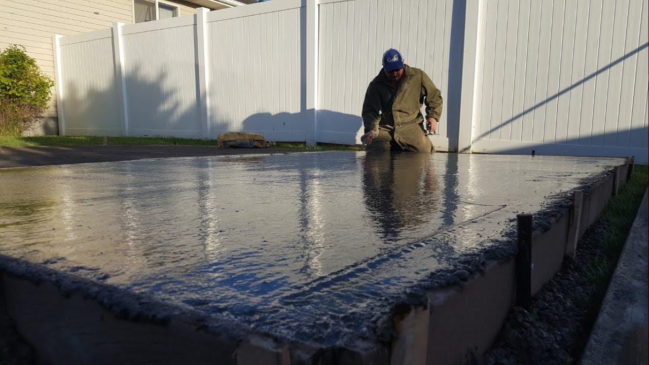 Cheap Easy Diy Concrete Slab Garden Shed Youtube