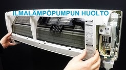 Ilmalämpöpumpun huolto  Mitsubishi Electric MSZ FH-25/35. HVAC indoor unit maintenance and cleaning